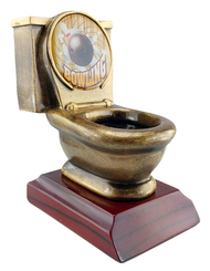 Bowling Toilet Bowl Trophy  | Last Place Loser Award | Golden Throne Prize | 5 Inch Tall