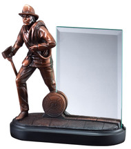 Fireman Heroic Story Glass Award