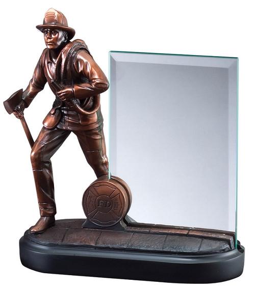 Fireman Heroic Story Glass Award