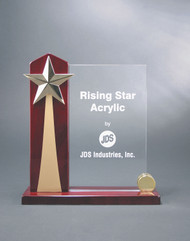"Rising Star Clear Acrylic Award | Corporate Award - 8.5"" & 9.5"" - Large"