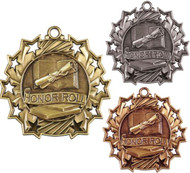 Honor Roll Ten Star Medal - Gold, Silver & Bronze   Scholastic 10 Star Award   2.25 Inch Wide