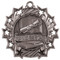 Honor Roll Ten Star Medal - Gold, Silver or Bronze | Scholastic 10 Star Medallion | 2.25 Inch Wide Honor Roll Ten Star Medal - Silver
