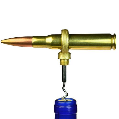 Bullet Bottle Opener - 50 Caliber Bullet Corkscrew - Brass - Clearance
