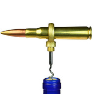 Bullet Bottle Opener - 50 Caliber Bullet Corkscrew - Brass - Clearance