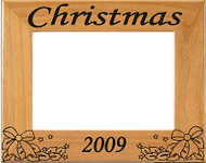 Christmas Holly Picture Frame - Personalized