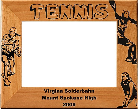 Tennis Female Picture Frame - Personalized