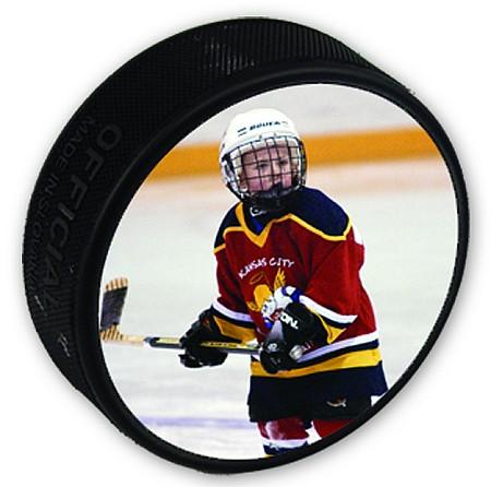"Hockey Puck   Personalized Photo Puck - 3"" Diameter"