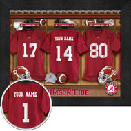Alabama Crimson Tide Football Locker Room Print - Personalized