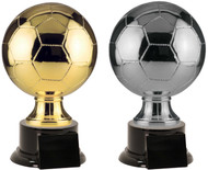 Soccer Ball Full Size Resin Trophy - Gold / Silver