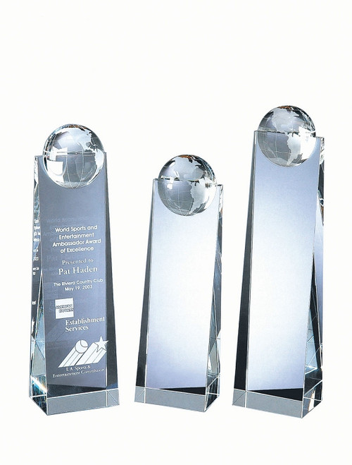 Crystal Global Tower Award - 3 Sizes