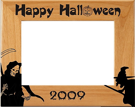 """Halloween """"Bats"""" Picture Frame - Personalized"""