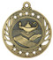 Lamp of Knowledge Galaxy Medal - Gold, Silver & Bronze | Engraved Academic Medallion | 2.25 Inch Wide Lamp of Knowledge Galaxy Medal - Gold