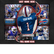 Buffalo Bills Action Collage Print - Personalized