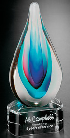 Art Glass Trophy - Elegance |Artistic Corporate Award - 9""