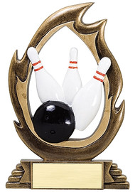 Bowling Flame Series Trophy | Bowling Award - 7.25""