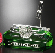 Golf Crystal Putter Award