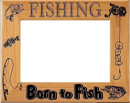 Born to Fish Picture Frame - Horizontal