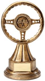 Racing Steering Wheel Trophy | Engraving Steering Wheel Award - 10 Inch Tall