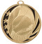 Baseball MidNite Star Medal - Gold, Silver & Bronze | Engraved Little League Medallion | 2 Inch Wide Baseball MidNite Star Medal - Gold
