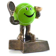 Tennis Lil' Buddy Trophy | Engraved Smiling Tennis Ball Award - 4 Inch Tall