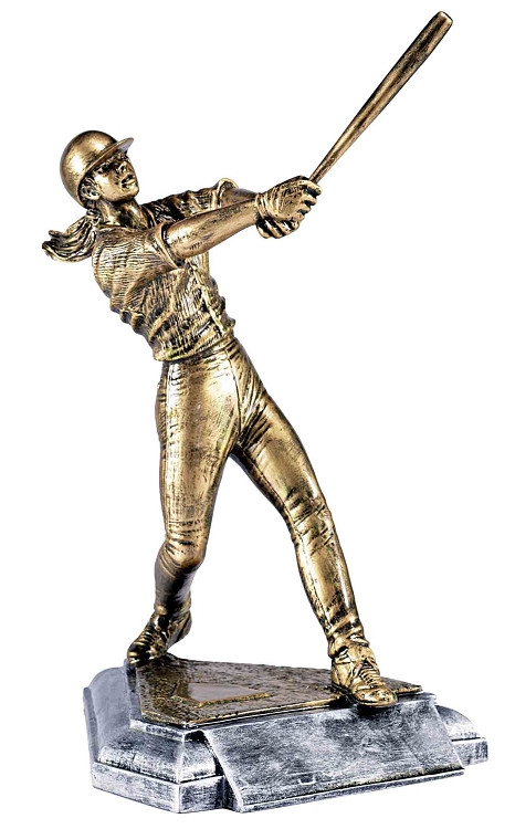 Softball Batter Home Plate Trophy / Slow Pitch Award | 8 Inch- Clearance