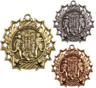 Cross Country Ten Star Medal - Gold, Silver & Bronze