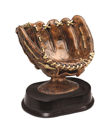 Baseball Glove Trophy | Engraved Baseball Display Award - 5""