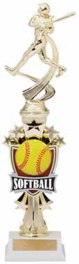 Softball Sport Motion All Star Trophy