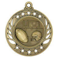 Football Galaxy Medal - Gold | Engraved Gridiron Medallion | 2.25 Inch Wide - CLEARANCE