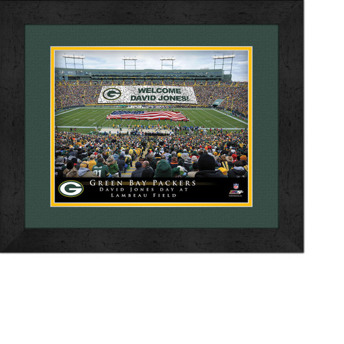 Personalized Green Bay Packers Stadium Print Lambeau Field Stadium Picture Green Bay Packers Card Stunt Framed Print