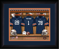 Auburn Tigers Football Locker Room Print - Personalized