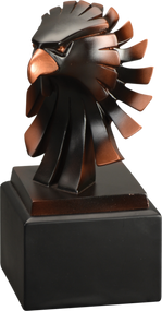 Eagle  Award |  Bronze Eagle Head Resin Trophy - 6 Inch Tall