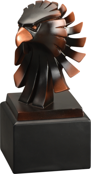 Eagle  Award |  Bronze Eagle Head Resin Trophy - 6 Inch Tall