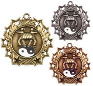 Martial Arts Ten Star Medal - Gold, Silver & Bronze | Karate 10 Star Award | 2.25 Inch Wide