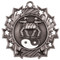 Martial Arts Ten Star Medal - Gold, Silver or Bronze | Karate 10 Star Medallion | 2.25 Inch Wide Martial Arts / Karate Ten Star Medal - Silver