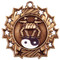 Martial Arts Ten Star Medal - Gold, Silver or Bronze | Karate 10 Star Medallion | 2.25 Inch Wide Martial Arts / Karate Ten Star Medal - Bronze