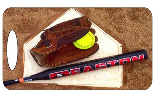 Softball Luggage / Bag Tag