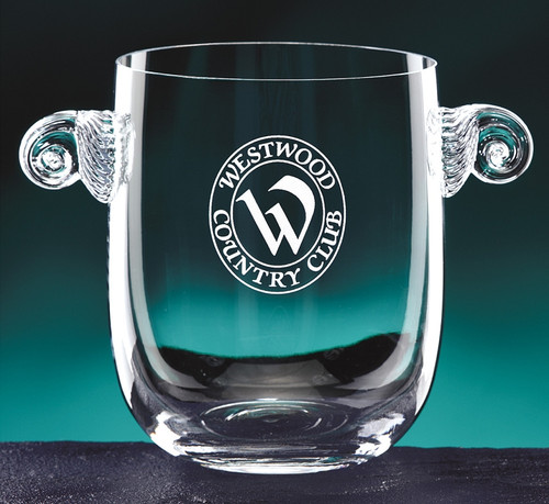 "Atelier Ice Bucket Crystal Corporate Award - 6"" - Engraved"