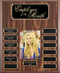 Perpetual Photo Plaque - Walnut Finish with 13 Black Engraving Plates
