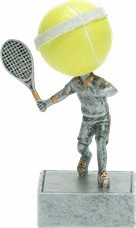 Tennis Bobblehead Trophy | Fast Serve Bobblehead Award | 5.5 Inch Tall