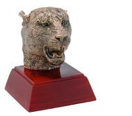 Panther / Jaguar Mascot Sculptured Trophy | Engraved Panther Award - 4 Inch Tall
