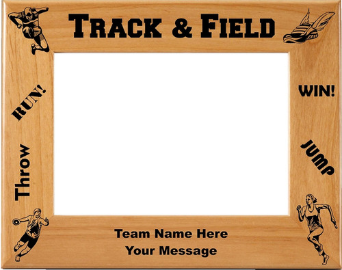 Track & Field Picture Frame - Personalized
