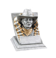 Cowboy Spirit Mascot Trophy | Engraved Cowboy Award - 4 Inch Tall