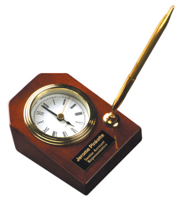 Desk Clock and Pen - Personalized