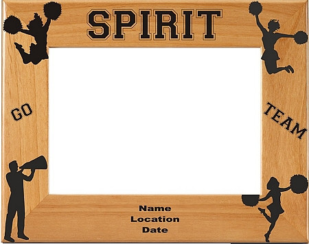 Cheerleading Spirit Picture Frame - Personalized