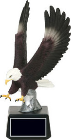 Eagle Strike Full Color Trophy | Swooping Eagle Award | 10 Inch Tall