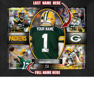 Green Bay Packers Action Collage Print - Personalized