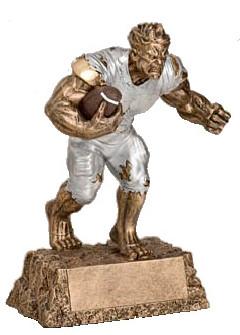 "Football Monster Trophy | Engraved Gridiron Beast Award - 6.75"" or 9.5"""