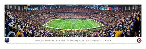 2012 Football National Championship Panorama Print - Unframed
