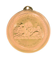 Swimming BriteLazer Medal - Gold, Silver & Bronze | Swimmer Award | 2 Inch Wide Swimming BriteLazer Medal - Bronze